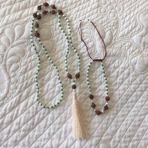 Jewelry - Mala necklace and bracelet set from Bali